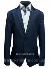 Пиджак детский темно-синий №43/1L - К 300/19-4024