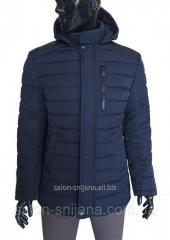 Куртка мужская зимняя стеганая 1852 Z темно-синяя