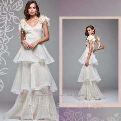 Сукня молочна з воланами 5478