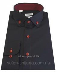 Мужская рубашка приталенная из сатина S 15.2