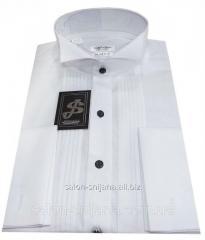 Рубашка мужская белая под бабочку №10/148