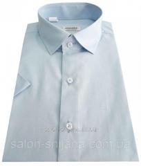 Мужская рубашка с коротким рукавом голубая №10/16 - 506/14-4112