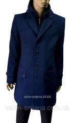 Пальто мужское зимнее синее №62 NV-2з - 13875 син/гол