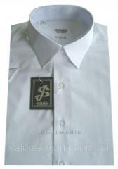 Мужская рубашка белая с коротким рукавом №10/3 - 40-100 V1