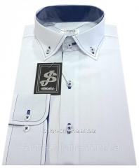 Рубашка мужская S 15.7 - поплин 2