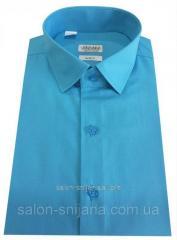 Мужская рубашка с коротким рукавом №10-16 - поплин 44