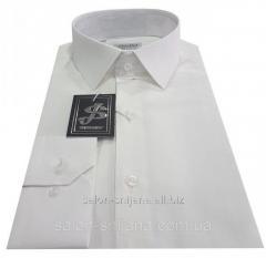 Рубашка мужская приталенная №10-12к. - 8115-3 молочный