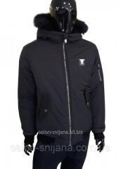 Куртка мужская зимняя черная № 114