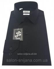 Рубашка мужская приталенная №10-12 - Filafil Черный
