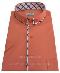 Мужская рубашка классическая с коротким рукавом №10-17 506/16-1532