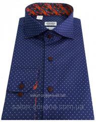Рубашка приталенная в горошек №S 55.7 SF