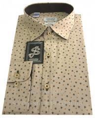 Рубашка мужская классическая c принтом № S 66.5