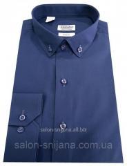 Рубашка мужская синяя №12-27к.- Поплин 49