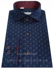 Рубашка приталенная в цветочный принт №SV 55.8 SF