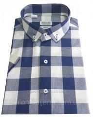 Мужская рубашка с коротким рукавом в клетку №T 12-27 RC - 4624 V7