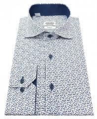 Рубашка мужская полуприталенная в принт №S 55.9 RC