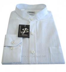 Рубашка мужская воротник-стойка S 120,1 - Flamli белая