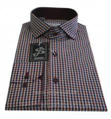 Рубашка в клетку S121.1- 7069/1+3012V63