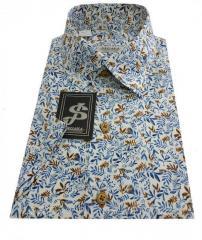 Мужская рубашка классическая с коротким рукавом № 10-3 - 60258/3