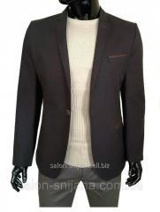 Мужской пиджак коричневый №96/3 - F 5250