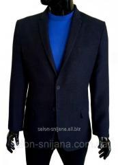 Мужской пиджак приталенный синий в полоску № 94/2 - 15225