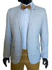 Летний мужской пиджак в клетку №94/2 L - MARINO