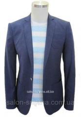 Пиджак приталенный №53L - 4218/5 темно-синий 48/176