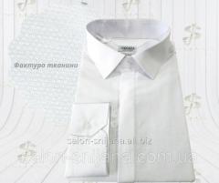 Сорочка чоловіча біла з фактурної тканини 8115/1 №10-123