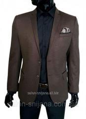 Мужской пиджак коричневый №97/2 - 8308