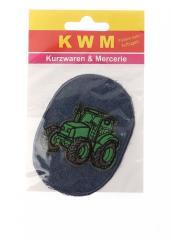 Аппликация термозаплатка Зеленый трактор KWM