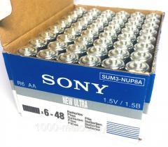 Батарейки SONY пальчиковые,  R06 AA