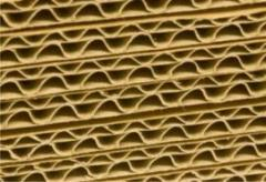 Corrugated cardboard sheet. From the producer. We