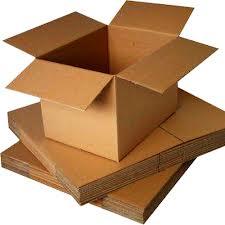 Corrugated cardboard sheet in assortment. We work