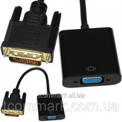 Переходник штекер DVI-D - гнездо VGA, c кабелем 10