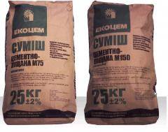 Mix (cement) cement and sand M75, M150