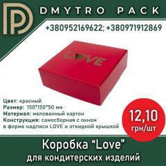 "Коробка ""Love"" 150х150х50 мм красная для..."