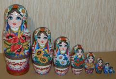 The Ukrainian painted nested doll from 9 pieces 905