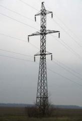 Металлоконструкции опор ЛЭП напряжение 0,4-750кВ