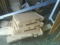 Box wooden for storage of the equipment and knots