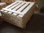 Container industrial - a plywood box, drying of a