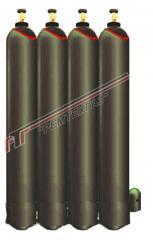 Testing gas mixtures for graduation, calibration,