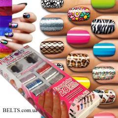 Набор Fab Foils для дизайна ногтей, набор для