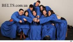 Флисовый плед с рукавами Снагги Бланкет синий