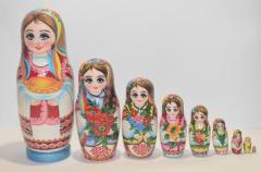 The Ukrainian painted nested doll from 9...