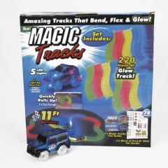 Гибкая детская дорога Magic Tracks 220 деталей + 2