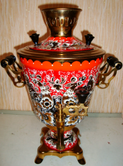 "Samovar electric 3-liter with a list of ""Bird""."