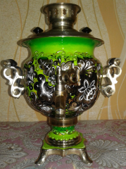 Samovar electric 3-liter with a list No. 6C