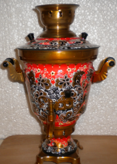 Samovar electric 3-liter with a list.
