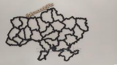 Карта Украины из фанеры, декоративная картина