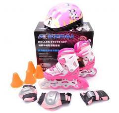 Ролики KEPAI розовые усиленные на алюминиевой раме